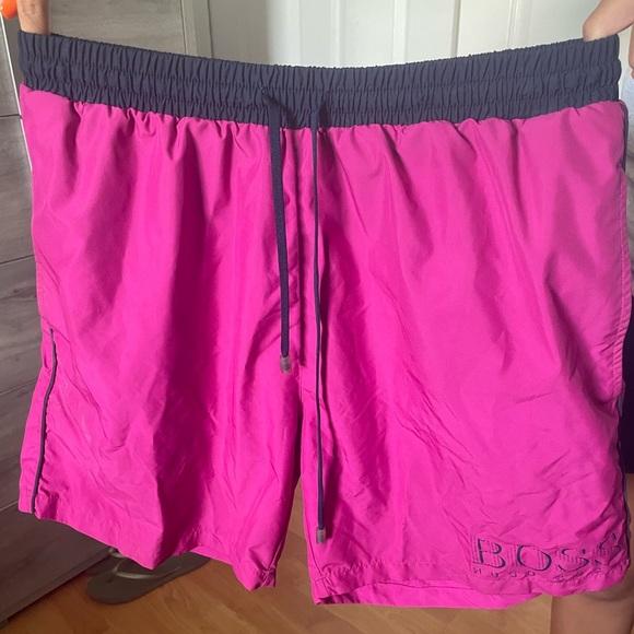 HUGO BOSS pink swimming trunks   Medium